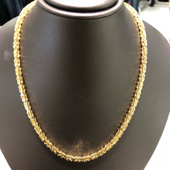 d06a211f1791f 14k yellow gold Byzantine necklace NWT